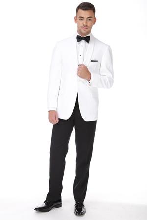 White Shawl Dinner Jacket