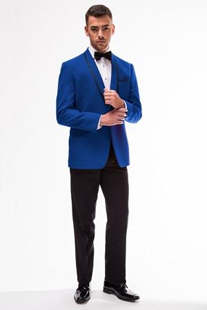 GiNovia Royal Blue Conner Shawl