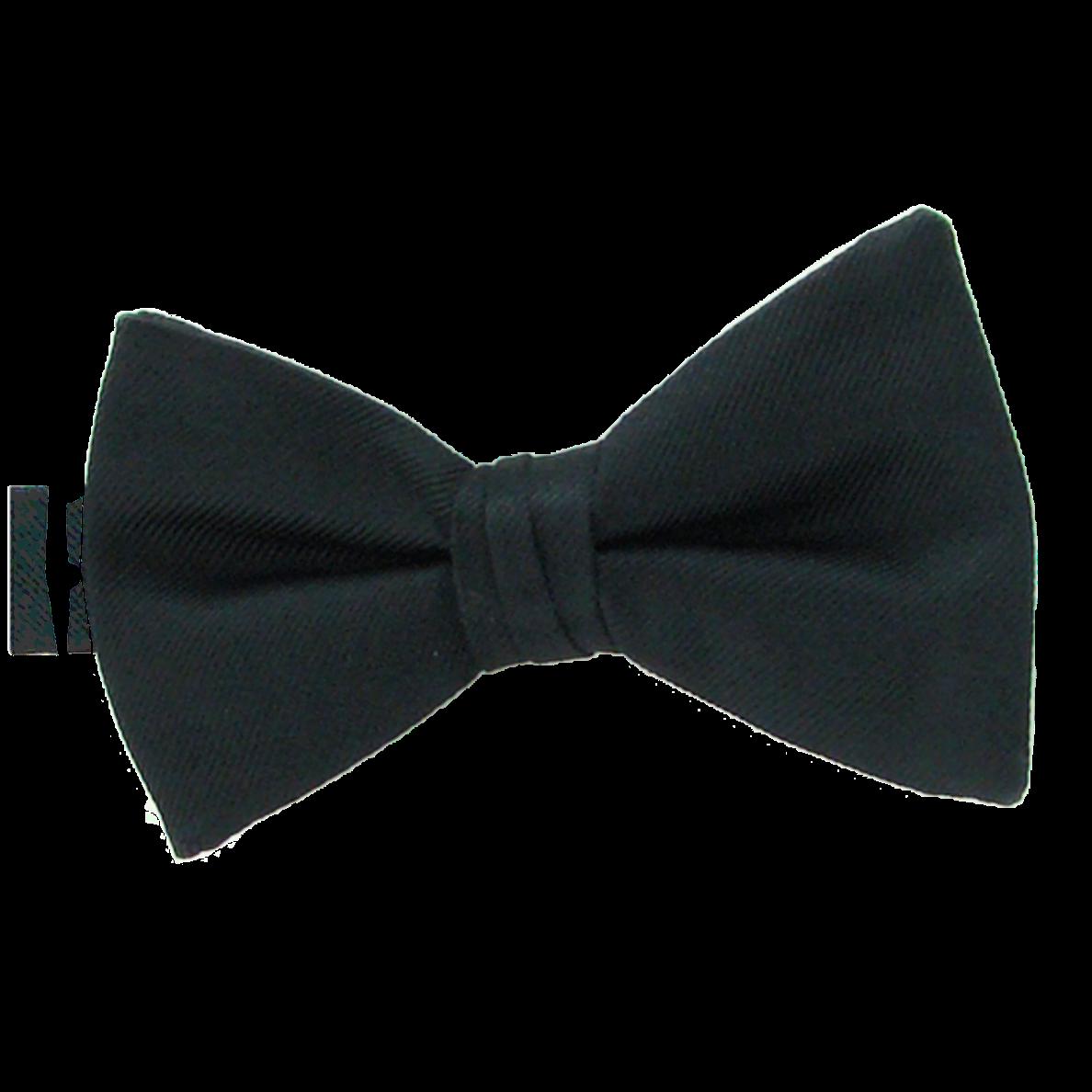 Simply Solid Black Bow Tie |Bernard's Formalwear | Durham ...