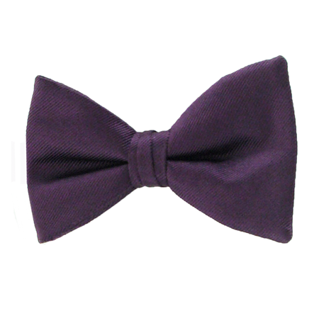 Picture of Simply Solid Plum Bow Tie