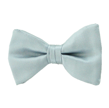 Picture of Simply Solid Light Silver Bow Tie