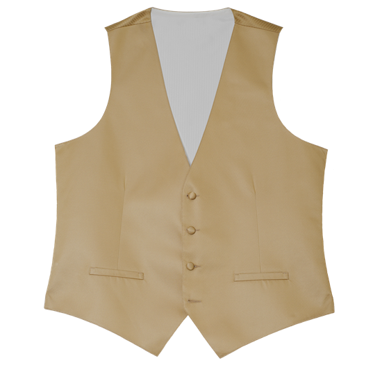 Picture of Modern Solid Toffee Gold Vest