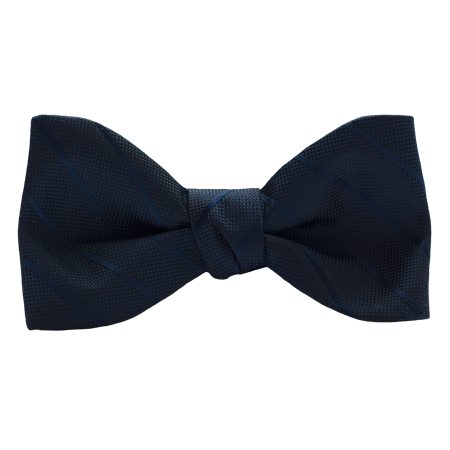 Picture of Modern Solid Dark Navy Bow Tie