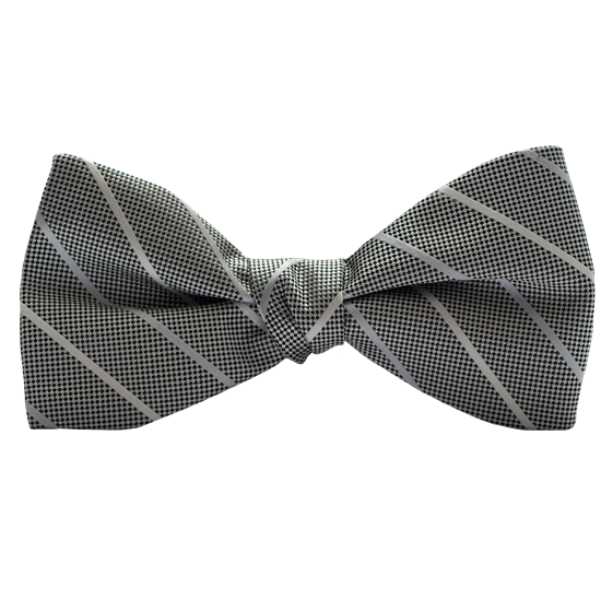 Picture of Modern Solid Platinum Bow Tie